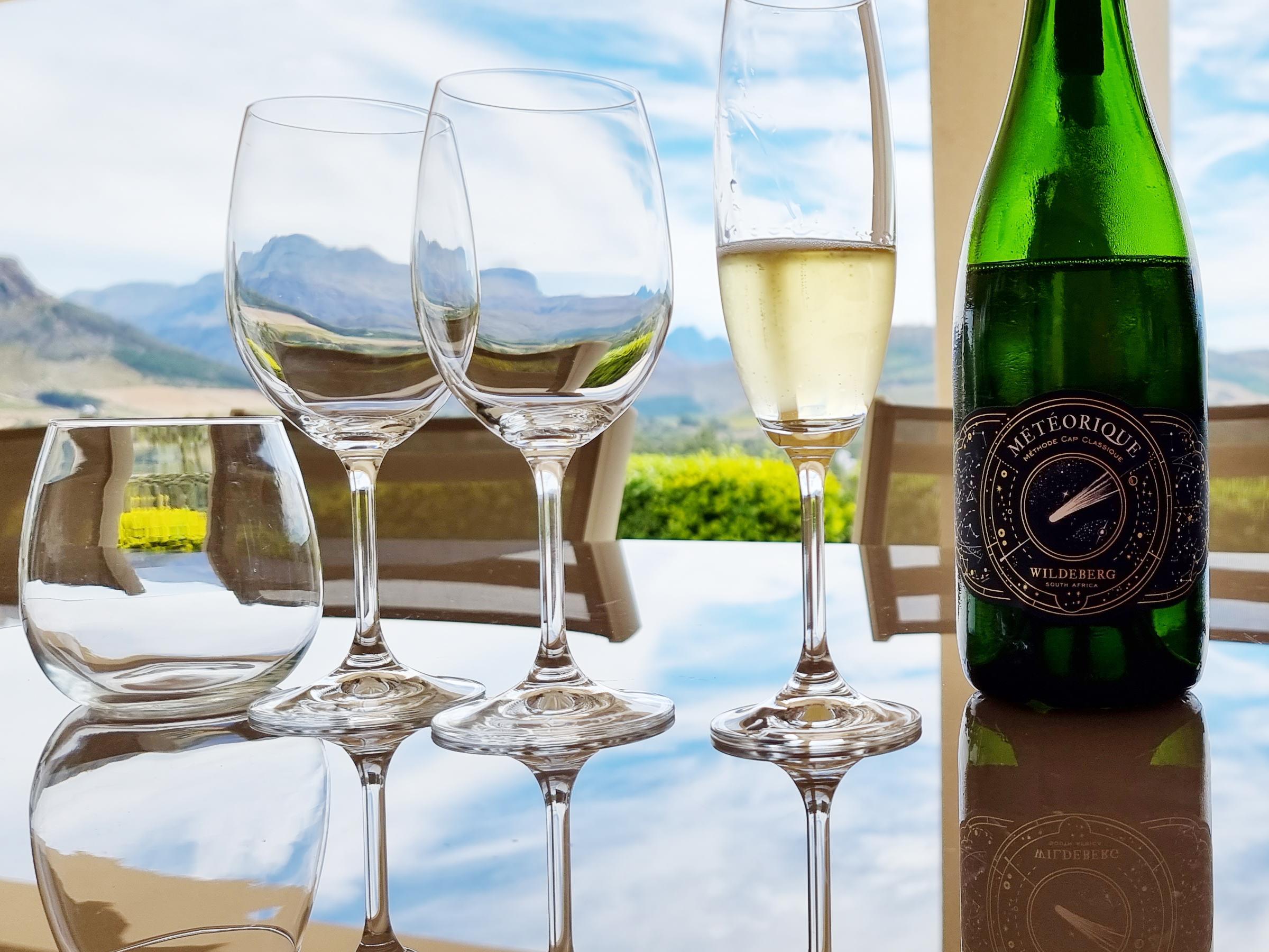 Sparkling Wine of Wildeberg - Franschhoek Vineyard Hopper